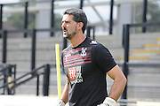 Julian Speroni warms up ahead of the U21 Professional Development League match between Crystal Palace U21s and Huddersfield U21s at Imperial Fields, Tooting, United Kingdom on 7 September 2015. Photo by Michael Hulf.