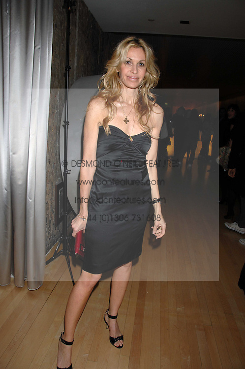 MELISSA ODABASH at a party to celebrate the launch of the Suka restaurant at the Sanderson Hotel, berners Street, London on 15th March 2007.<br />