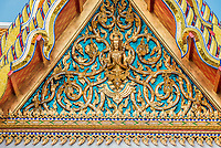 roof detail at Wat Pho temple Bangkok Thailand