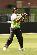 Makhaya Ntini of the Warriors attempts to take a catch during the Warriors training session held at St Georges Park in Port Elizabeth on the 16 September 2010..Photo by: Shaun Roy/SPORTZPICS/CLT20