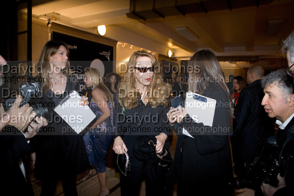 JERRY HALL, Figures of Speech ICA Fundraising Gala dinner. Lawrence Hall, Victoria. London. 27 February 2008 *** Local Caption *** -DO NOT ARCHIVE-© Copyright Photograph by Dafydd Jones. 248 Clapham Rd. London SW9 0PZ. Tel 0207 820 0771. www.dafjones.com.