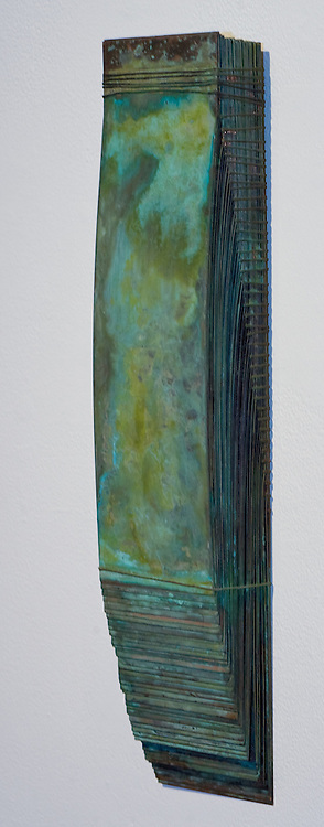 Bound copper sheets, 2005, 18 x 4.25 x 1.5 inches.