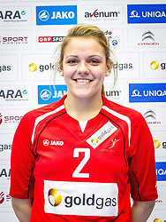 12.10.2014, BSZF Suedstadt, Maria Enzersdorf, AUT, OeHB, Fototermin Österreichisches Handball Nationalteam Frauen Jahrgang 1998, im Bild Katarina Gladovic // during a Team and Portrait Photoshoot of Austrian Women's National Handball Team 1998 at the BSZF Suedstadt, Maria Enzersdorf, Austria on 2014/10/12. EXPA Pictures © 2014, PhotoCredit: EXPA/ Sebastian Pucher