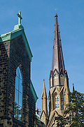 Saint Dunstan's Basilica, a Catholic church in the historic district of Charlottetown; Prince Edward Island, Canada.