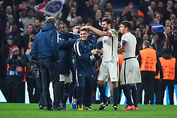 09.03.2016, Stamford Bridge, London, ENG, UEFA CL, FC Chelsea vs Paris Saint Germain, Achtelfinale, Rueckspiel, im Bild matuidi blaise, verratti marco, motta thiago, thiago silva // during the UEFA Champions League Round of 16, 2nd Leg match between FC Chelsea vs Paris Saint Germain at the Stamford Bridge in London, Great Britain on 2016/03/09. EXPA Pictures © 2016, PhotoCredit: EXPA/ Pressesports/ LAHALLE PIERRE<br /> <br /> *****ATTENTION - for AUT, SLO, CRO, SRB, BIH, MAZ, POL only*****