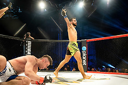 Benoit St-Denis of France celebrates after winning against Ivica Truscek of Croatia during WFC 24 / BRAVE CF 34 fighting event, on January 19, 2020 in Arena Tivoli, Ljubljana, Slovenia. Photo by Vid Ponikvar / Sportida
