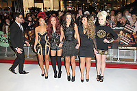 Jade Thirlwall; Leigh-Anne Pinnock; Tulisa Contostavlos; Jesy Nelson; Perrie Edwards; Little Mix The Twilight Saga: Breaking Dawn Part 1 UK Premiere, Westfield Startford City, London, UK. 16 November 2011. Contact rich@pictured.com +44 07941 079620 (Picture by Richard Goldschmidt)