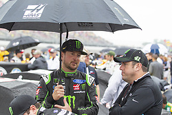 June 10, 2018 - Brooklyn, Michigan, U.S - NASCAR driver KURT BUSCH (41) waits for the rain to clear up at Michigan International Speedway. (Credit Image: © Scott Mapes via ZUMA Wire)