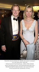 The EARL & COUNTESS OF DERBY at a ball in London on 15th May 2001.			OOE 82