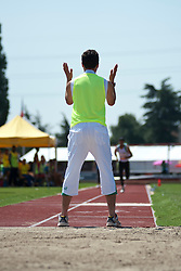Behind the scenes, , Triple Jump, Guide, 2013 IPC Athletics World Championships, Lyon, France