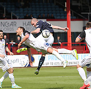 Dundee's James McPake and Inverness Caledonian Thistle&rsquo;s Gary Warren - Dundee v Inverness Caledonian Thistle - SPFL Premiership at Dens Park <br /> <br />  - &copy; David Young - www.davidyoungphoto.co.uk - email: davidyoungphoto@gmail.com