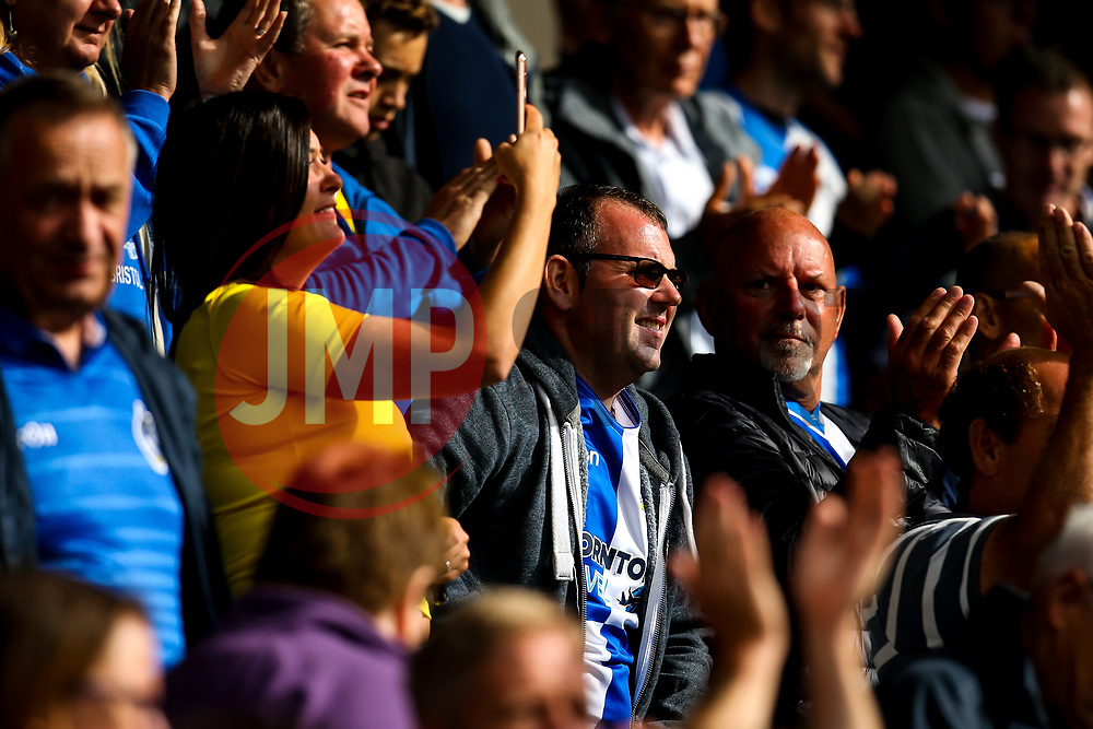 /Bristol Rovers fans at Wycombe Wanderers - Mandatory by-line: Robbie Stephenson/JMP - 18/08/2018 - FOOTBALL - Adam's Park - High Wycombe, England - Wycombe Wanderers v Bristol Rovers - Sky Bet League One