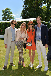 Left to right, Lord Settrington, Eléonore Decaux, Lady Alice Manners and Otis Ferry at the Cartier Style et Luxe at the Goodwood Festival of Speed, Goodwood, West Sussex, England. 2 July 2017.<br /> Photo by Dominic O'Neill/SilverHub 0203 174 1069 sales@silverhubmedia.com