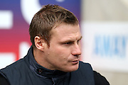 Bury Manager David Flitcroft during the Sky Bet League 1 match between Coventry City and Bury at the Ricoh Arena, Coventry, England on 13 February 2016. Photo by Chris Wynne.