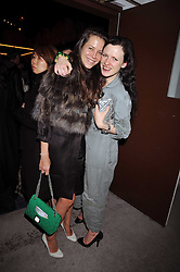 Left to right, CHARLOTTE STOCKDALE and KATIE GRAND at the Prada Congo Art Party hosted by Miuccia Prada and Larry Gagosian at The Double Club, 7 Torrens Street, London EC1 on 10th February 2009.