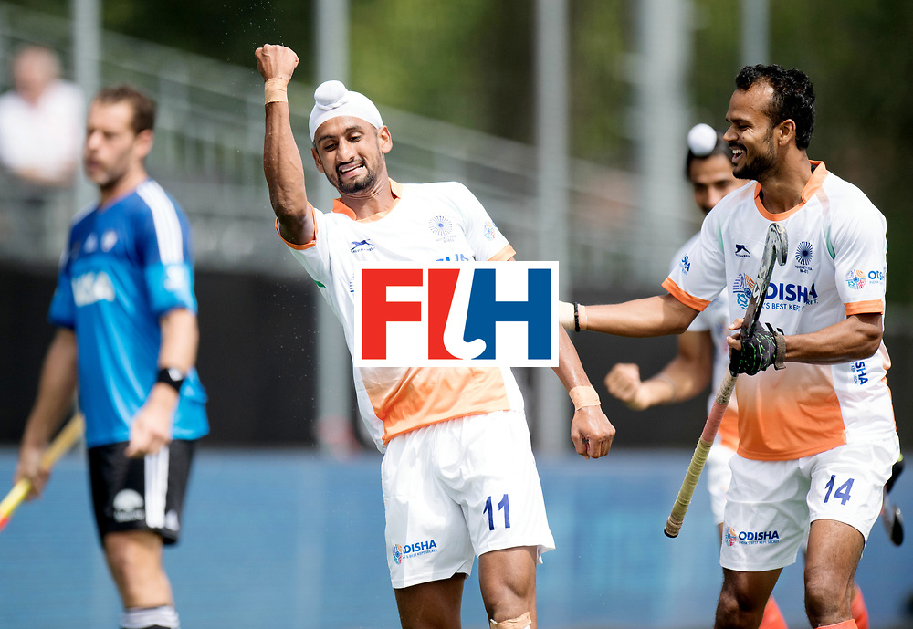BREDA - Rabobank Hockey Champions Trophy<br /> India - Argentina<br /> Photo: Mandeep Singh celebrates.<br /> COPYRIGHT WORLDSPORTPICS FRANK UIJLENBROEK