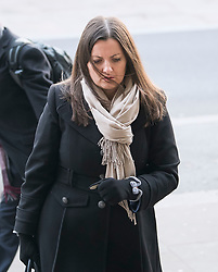 © Licensed to London News Pictures. 06/02/2018. London, UK. EMMA MERCER,  former finance director, Carillion, arrives at Portcullis house in London where former bosses of the outsourcing firm Carillion are due to give evidence to a Business, Energy and Industrial Strategy Committee and the Work and Pensions Committe. Carillion plc, a major government contractor, went in to administration in January 2018. Photo credit: Ben Cawthra/LNP