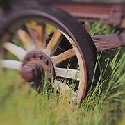 Wagon Wheel - Bodie, CA - Lensbaby