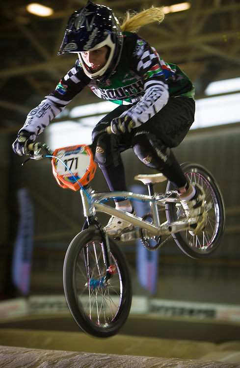 #171 (O'KEEFFE Teagan) RSA at the UCI BMX Supercross World Cup in Manchester, UK