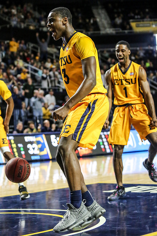 December 10, 2017 - Johnson City, Tennessee - Freedom Hall: ETSU guard Bo Hodges (3)<br /> <br /> Image Credit: Dakota Hamilton/ETSU