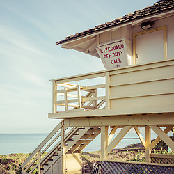 Maui lifeguard tower Kamaole Beach photo in Wailiea Kihei Hawaii in the Hawaiian Islands. Copyright ⓒ 2019 Paul Velgos with All Rights Reserved.