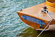 351021-1038G.Huey ~ Copyright: George H.H. Huey ~ Historic launch 'Mystic' at Mystic Seaport.   Mystic, Connecticut.