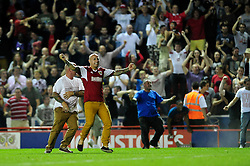 Bristol City fans storm the pitch at the end of the game  - Photo mandatory by-line: Dougie Allward/JMP - Tel: Mobile: 07966 386802 04/09/2013 - SPORT - FOOTBALL -  Ashton Gate - Bristol - Bristol City V Bristol Rovers - Johnstone Paint Trophy - First Round - Bristol Derby