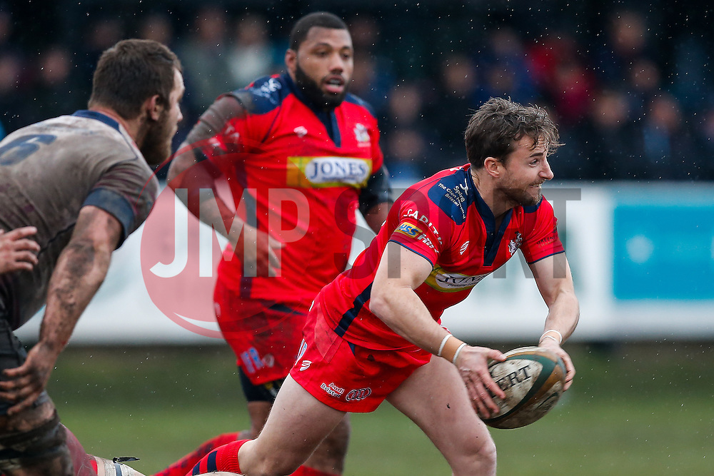 Bristol Rugby replacement Martin Roberts in action - Mandatory byline: Rogan Thomson/JMP - 06/02/2016 - RUGBY UNION - Clifton Lane - Rotherham, England - Rotherham Titans v Bristol Rugby - Greene King IPA Championship.