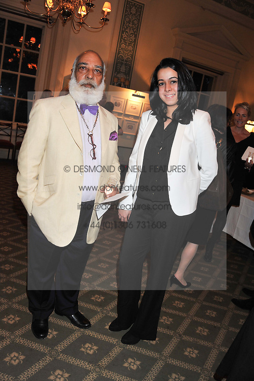 HH THE MAHARANA OF UDAIPUR and PRINCESS AAKANKSHA SINGH at a private view of The Secret Garden and A Little Princess an exhibition of original watercolours by Graham Rust held at St.Wilfrid's Hall, The Brompton Oratory, London on 2nd October 2012.