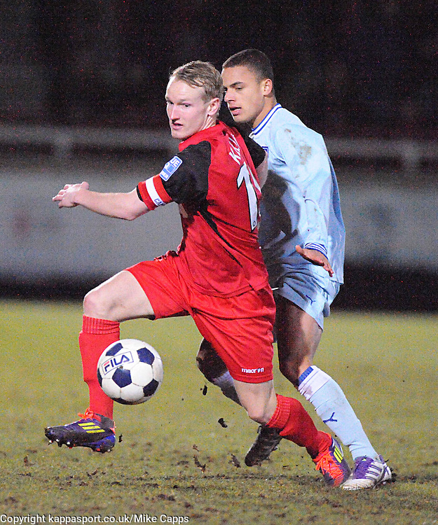MARCUS KELLY, KETTERING TOWN, Kettering Town v Coventry City, Trust, Nene Park  Friendly Wednesday 15th Febuary 2012