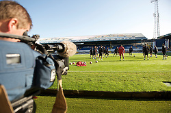 CARDIFF, WALES - Wednesday, October 8, 2008: Wales' players during training at Ninian Park ahead of the UEFA European U21 Championship Play-Off match against England. (Photo by David Rawcliffe/Propaganda)
