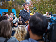 01 NOVEMBER 2019 - DES MOINES, IOWA: BETO O'ROURKE announces to his supporters that he is dropping out of the race for the presidency. Iowa holds the first presidential selection event of the 2020 election cycle. The Iowa Caucuses are Feb. 3, 2020.            PHOTO BY JACK KURTZ