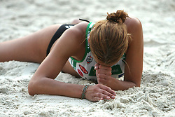 Tadeja Veit (Aklimat Team) at qualifications for 14th National Championship of Slovenia in Beach Volleyball and also 4th tournament of series TUSMOBIL LG presented by Nestea, on July 25, 2008, in Kranj, Slovenija. (Photo by Vid Ponikvar / Sportal Images)/ Sportida)