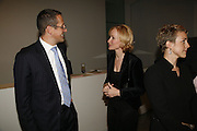 Richard Quest and  Louise T Blouin MacBain, THE LOUISE T BLOUIN INSTITUTE OPENS WITH INAUGURAL EXHIBITION: James Turrell: A Life in Light Exhibition. OLAF ST. LONDON. 12 OCTOBER 2006.  -DO NOT ARCHIVE-© Copyright Photograph by Dafydd Jones 66 Stockwell Park Rd. London SW9 0DA Tel 020 7733 0108 www.dafjones.com