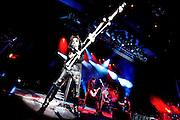"Frankfurt am Main | 11.11.2010..Alice Cooper bei seiner ""Theatre Of Death Tour 2010"" live in der Jahrhunderthalle in Frankfurt am Main, hier wedelt er mit einer Kruecke...©peter-juelich.com..[No Model Release | No Property Release]"