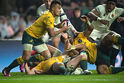 Twickenham, Surrey. UK.  AUS Will GENIA, come's away with the ball, during the  England VS Australia, Autumn International. Old Mutual Wealth Series. RFU Stadium, Twickenham. UK<br /> <br /> Saturday  18.11.17<br /> <br /> [Mandatory Credit Peter SPURRIER/Intersport Images]