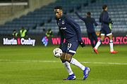 Everton defender Yerry Mina (13) in warm up during the The FA Cup fourth round match between Millwall and Everton at The Den, London, England on 26 January 2019.