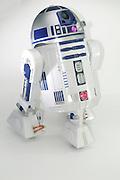 Star Wars R2-D2 robot on white background