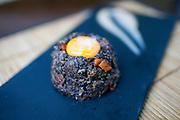 Black pudding volcano with raisins at Hidalgo 56