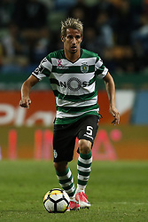 October 22, 2017 - Lisbon, Portugal - Sporting's defender Fabio Coentrao in action  during Primeira Liga 2017/18 match between Sporting CP vs GD Chaves, in Lisbon, on October 22, 2017. (Credit Image: © Carlos Palma/NurPhoto via ZUMA Press)