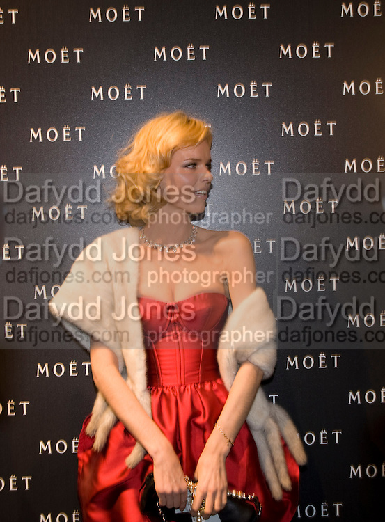 Eva Hertzigova, A Tribute to Cinema party given by Moet and Chandon.Big Sky Studios, Brewery Rd. London.  24 March 2009 *** Local Caption *** -DO NOT ARCHIVE-© Copyright Photograph by Dafydd Jones. 248 Clapham Rd. London SW9 0PZ. Tel 0207 820 0771. www.dafjones.com.<br /> Eva Hertzigova, A Tribute to Cinema party given by Moet and Chandon.Big Sky Studios, Brewery Rd. London.  24 March 2009