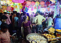 November 3, 2018 - Allahabad, India - Indian people buy decorative items and fancy lights ahead of Diwali Festival , in Allahabad on November 3, 2018 . 'Diwali', the Festival of Lights, marks victory over evil and commemorates the time when Hindu god Lord Rama achieved victory over Ravana and returned to his kingdom Ayodhya. (Credit Image: © Ritesh Shukla/NurPhoto via ZUMA Press)