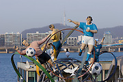 Yeouido Island. Soccer World Cup monument.
