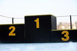 Winner`s stairs on February 12, 2008 in Kranj, Slovenia . (Photo by Vid Ponikvar / Sportal Images).