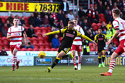 David Ball of Rotherham United tees up to shoot at goal - Mandatory by-line: Ryan Crockett/JMP - 11/11/2017 - FOOTBALL - The Keepmoat Stadium - Doncaster, England - Doncaster Rovers v Rotherham United - Sky Bet League One