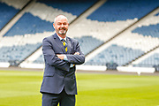 *** speaking to media during the official press conference announcing the appointment of Steve Clarke as the Scotland National Team head coach, manager at Hampden Park, Glasgow, United Kingdom on 21 May 2019.