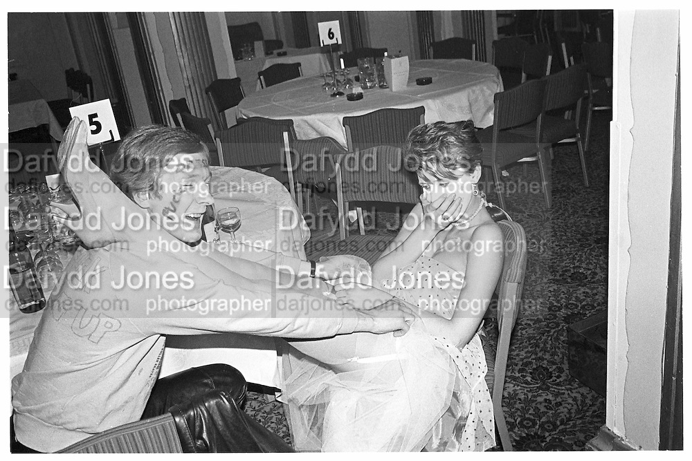 Michael Fitzroy and Sarah Newton, Piers Gaveston Ball, Park Lane Hotel 13.05.83© Copyright Photograph by Dafydd Jones 66 Stockwell Park Rd. London SW9 0DA Tel 020 7733 0108 www.dafjones.com