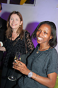 LOUISE WILSON;  Bomi Odufunade , Pop party. the birthday celebration of twin sisters Valeria Napoleone and Stefania Pramma. Studio Voltaire, London SW4. 17 May 2013.