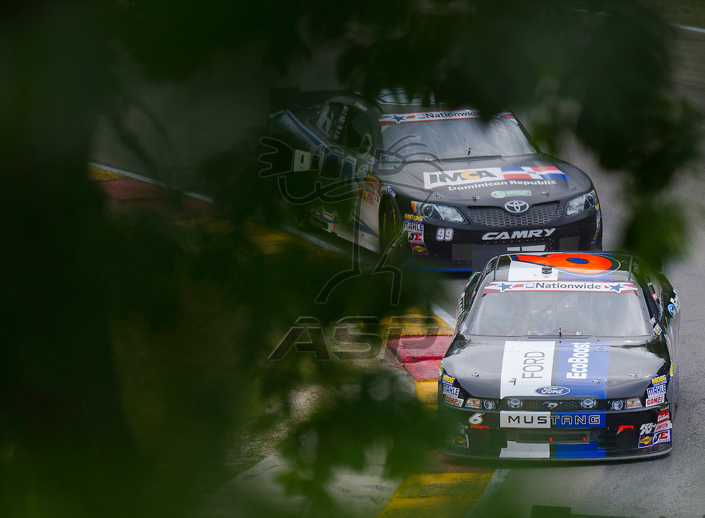 Elkhart Lake,WI - JUN 23, 2012: Ricky Stenhouse, Jr. (6) drives during the Sargento 200  at Road of America in Elkhart Lake , WI.