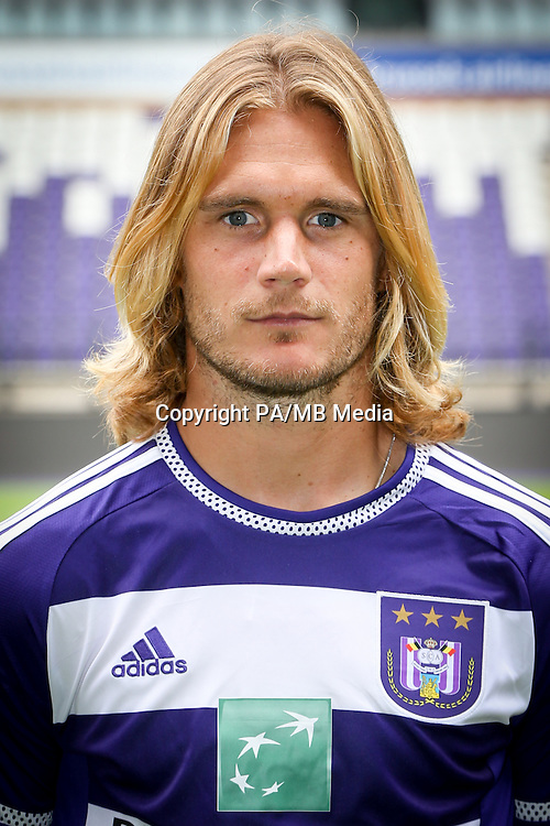 Anderlecht's Guillaume Gillet pictured during the 2015-2016 season photo shoot of Belgian first league soccer team RSC Anderlecht, Tuesday 14 July 2015 in Brussels.